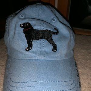 Light Blue Black Dog Women's Hat